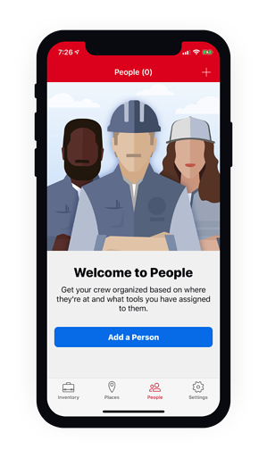 Screenshot of Welcome to people on mobile