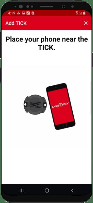 Device pairs with Milwaukee TICK equipment tracker