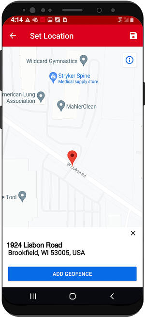 Location is on smartphone