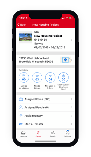 Phone displaying a new housing project