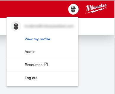 Screenshot of the profile menu on desktop