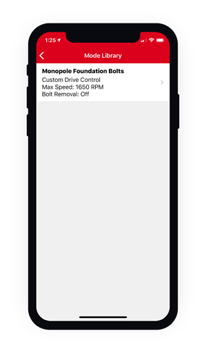 screenshot of mode library in One-Key on mobile phone