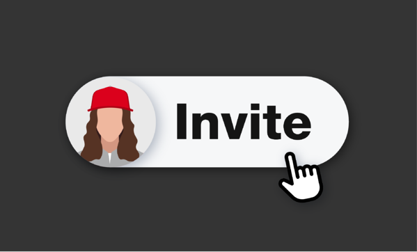 illustration of invite team member button