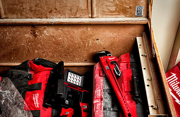 Milwaukee Tools in a tool chest