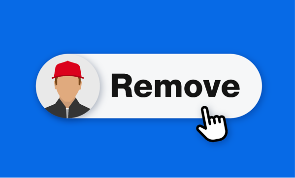 illustration of remove team member button