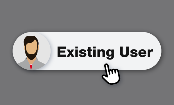 illustration of existing user button